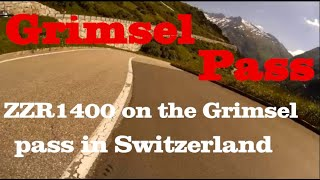 ZZR1400 on the Grimsel pass in…
