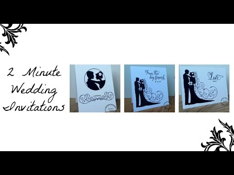 2 Minute DIY Handmade Wedding Invitations/Save The Date/Bridal Shower/Thank You