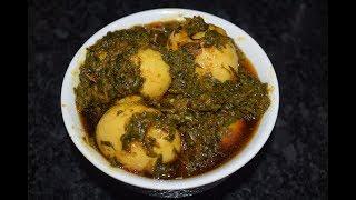 Ande Palak ki Sabzi  Unique Recipe  Very Health and Tasty