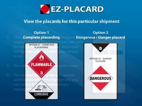 EZ-Placard mobile hazmat placard calculator - step-by-step training