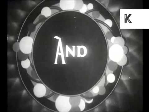 1930s Cinema Refreshments Advert, Snacks, UK Archive Footage