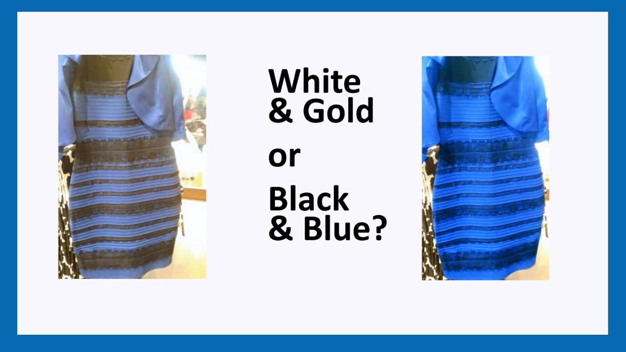 The dress explained - Scientifically Explained Why You See The Dress In White Gold Or Black Blue