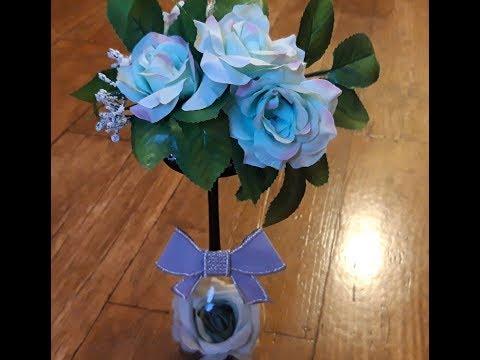Różane drzewko(stroik na