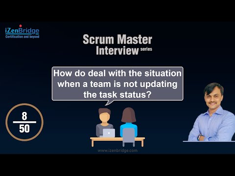 How do deal with the situation when team is not updating the task