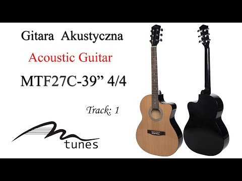 """Acoustic guitar 4/4 39"""" M-tunes MTF27C video"""