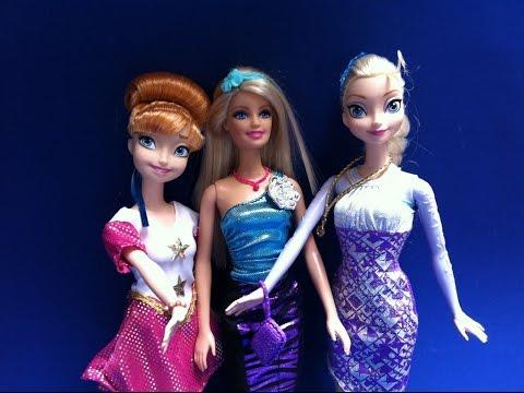 Búp Bê Barbie Thay đổi váy dạ hội cùng Công Chúa Disney (Bí Đỏ) Barbie