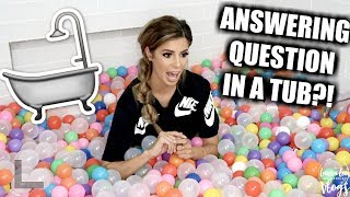 ANSWERING QUESTIONS FROM A BATHTUB?! MIAMI, COOKING AND MORE!