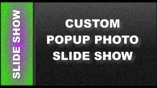 Web Design Tutorials for Xara Web Designer: Custom Popup Photo Slideshow Lesson 108