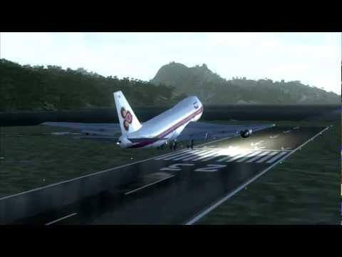 Thai Airways Take Off American Samoa 747-200