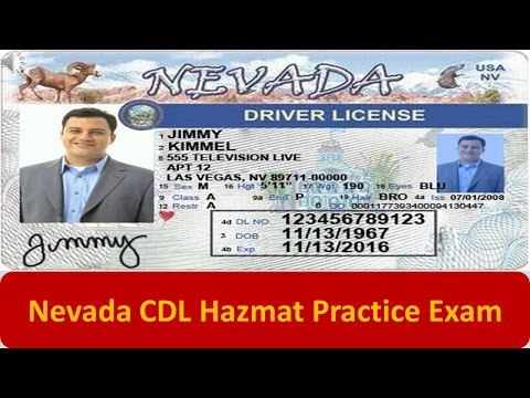 Nevada CDL Hazmat Practice Exam