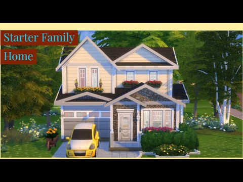 STARTER FAMILY HOME || 2 Bdr + 2 Bth || The Sims 4: Speed Build [NO CC]