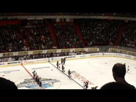 NHL opener 2011 Ducks vs Rangers @ Ericsson Globe Arena - Anthem