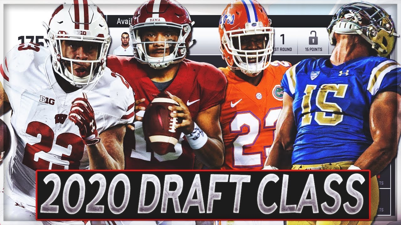 Top Rookie Quarterbacks 2020.Full 2020 Custom Draft Class Madden 19 Custom Draft Classes