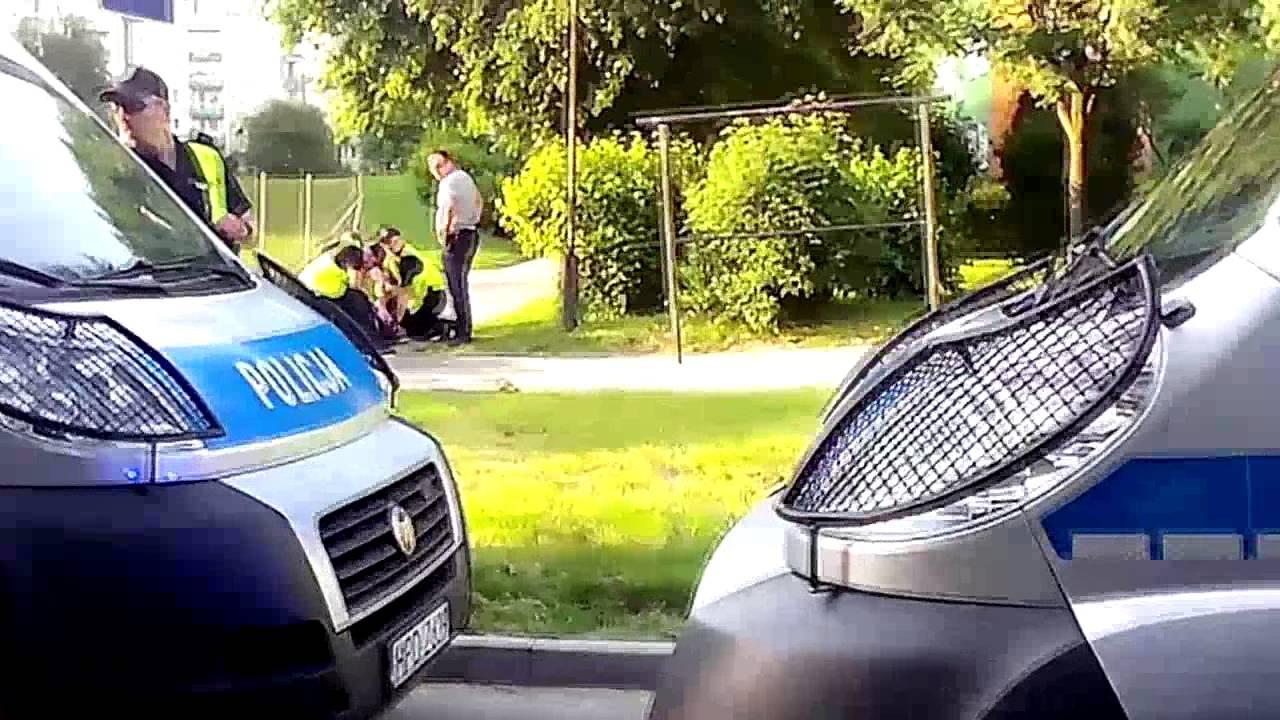 Akcja policji na ul. Polnej w Zamościu 26 maja 2014 (cz. 1)
