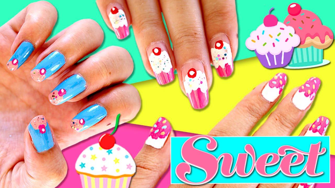 UÑAS DECORADAS con esmalte sencillas y bonitas * 3 diseños de uñas ...