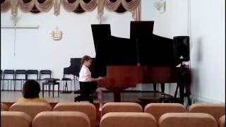 Академический концерт на фортепиано, первый год обучения. На отлично!!!