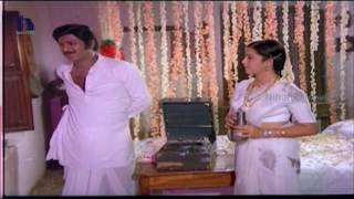 Radhika, Chiranjeevi First Night  - Patnam Vachina Pativrathalu Movie Scenes