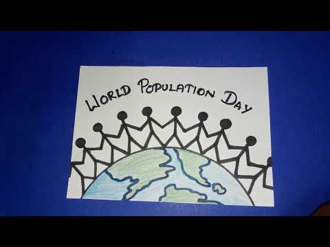 Draw POPULATION DAY poster | How to draw World POPULATION Drawing step by step