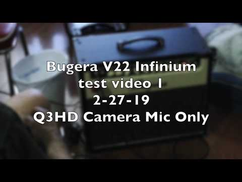 Bugera V22 Infinium Guitar Combo Amp Test Video No. 1: 2-27-19 Using Q3HD Mic Only