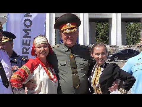 "Старт автопробега ДОСААФ ""Москва - Брест"""