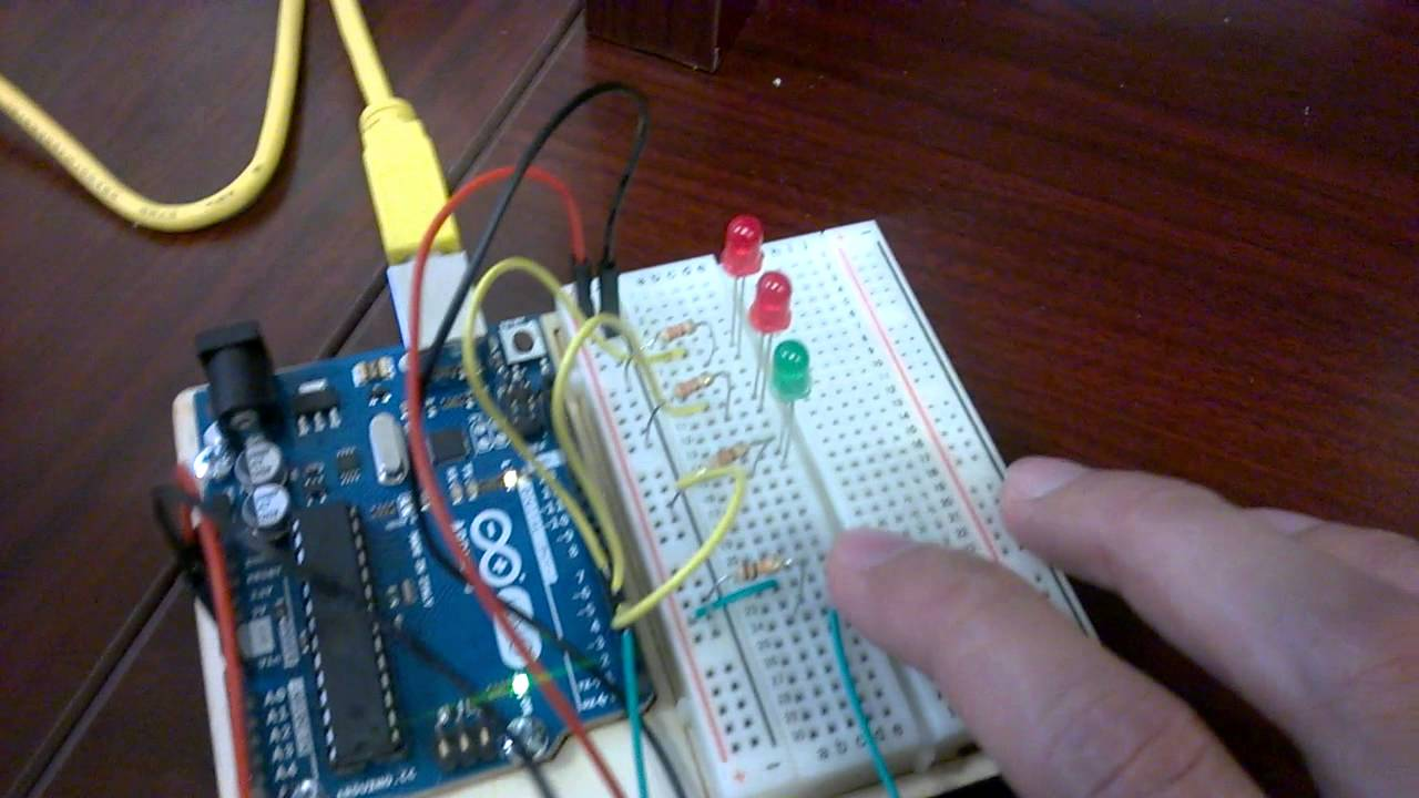Arduino Electronic Dice Schematic