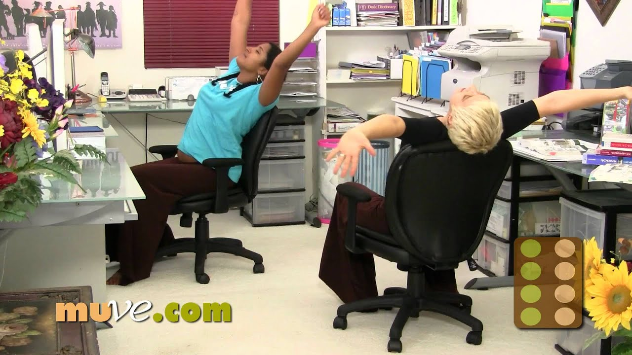 fice Stress Reducer Chair Exercise Loosen up with Rachel and