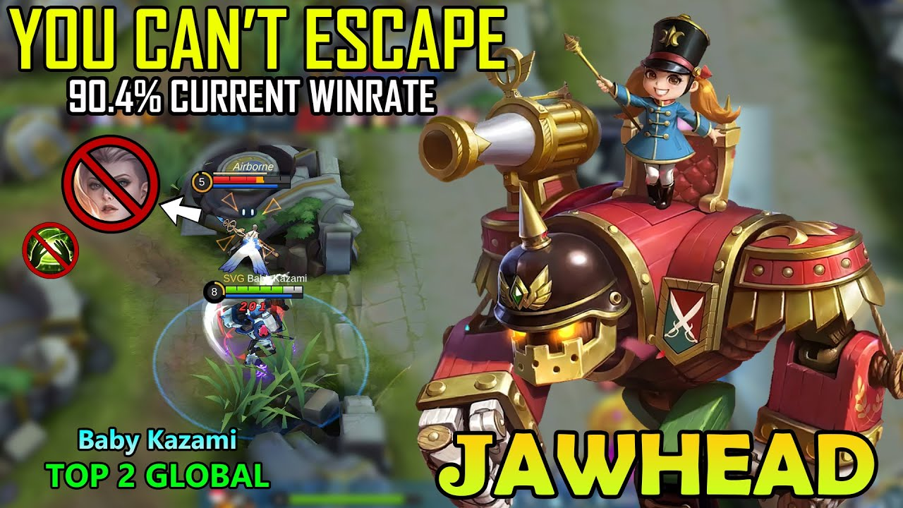 90.4% WINRATE!!JAWHEAD BEST BUILD 2020 - TOP 2 GLOBAL JAWHEAD 2020