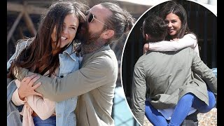 TOWIE's Pete Wicks and Shelby Tribble film on Brighton Beach