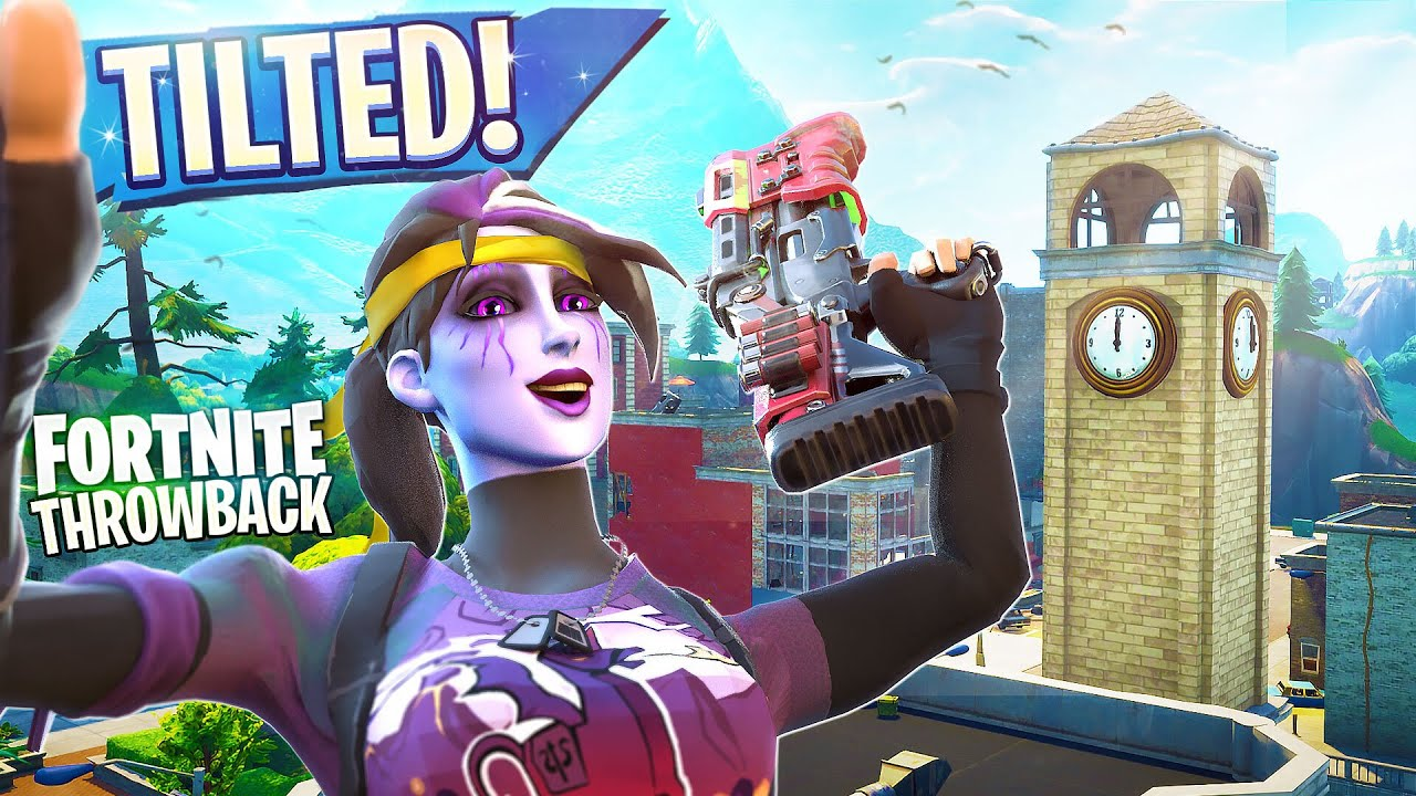 HAVING FUN AT TILTED TOWERS  - FORTNITE SOLOS THROWBACK