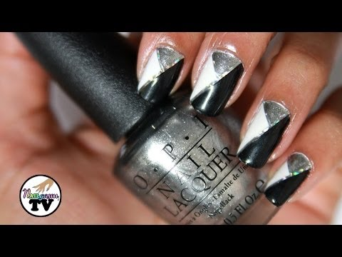 New Years Eve Color Block Nail Art Tutorial