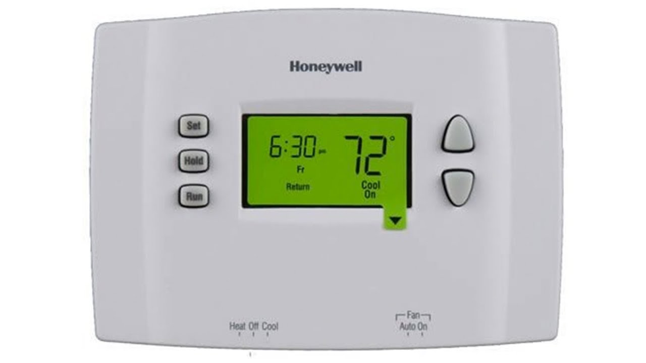 honeywell 7 day programmable thermostat rth2510b1000 youtube rh youtube com honeywell 5-1-1 day programmable thermostat manual honeywell 5-1-1 day programmable thermostat manual