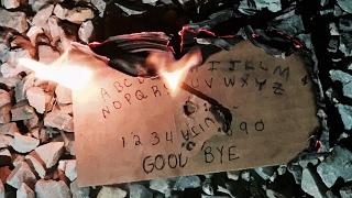 OUIJA BOARD WEDNESDAY - MAKING AND BURNING A MINI OUIJA BOARD