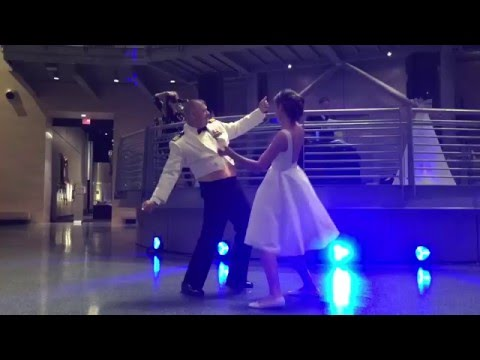 Father Daughter wedding dance at Marine Corps Museum