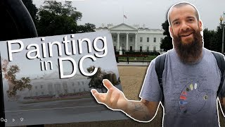 Painting the White House in Washington, DC. Cesar Santos vlog 064