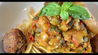 Spaghetti With Tempeh Meatballs