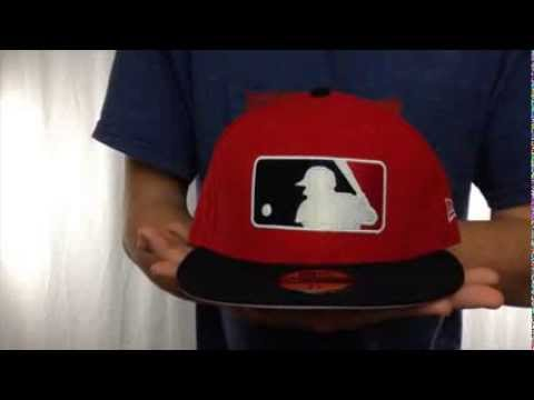 4b0e2e66 MLB '2T-FASHION UMPIRE' Red-Black Fitted Hat by New Era - YouTube