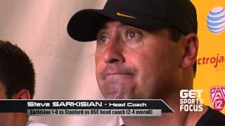 usc coach sarkisian on pat haden s inappropriate sideline conduct