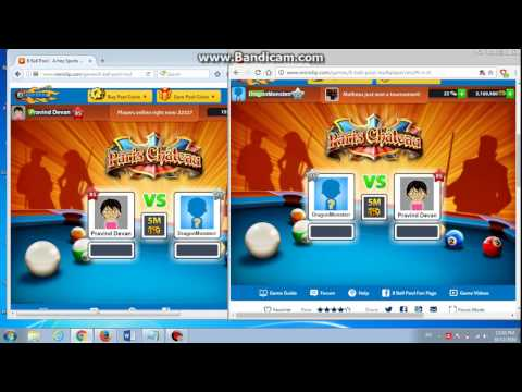 How to transfer coins in 8 ball pool using PC browsers ??
