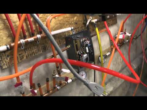 Radiant Hydronic Floor Heating System with Tankless Heater