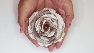 Ide Kreatif Dari Koran Bekas - Membuat Bunga Mawar