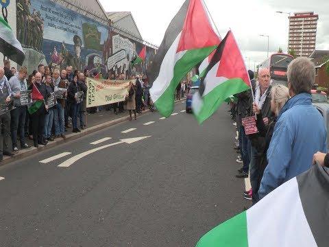 Slaughter of Palestinian men, women and children condemned at Belfast rally