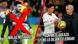 Malas noticias para Messi y el Barça | Son hace gol de su vida y por esto Mou no lo deja celebrar