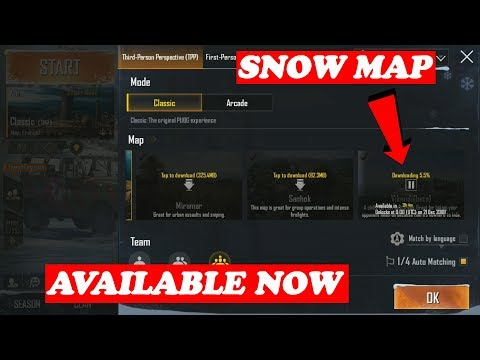 SNOW MAP IS OUT ! DOWNLOAD NOW HURRY ! ONE MORE GREAT NEWS ! PUBG MOBILE - 동영상