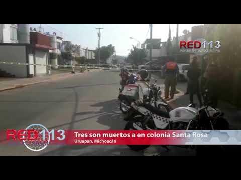 VIDEO Tres hombres son muertos a balazos en la colonia Santa Rosa