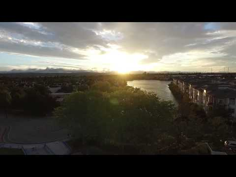 Aerial footage of Redwood Shores, CA