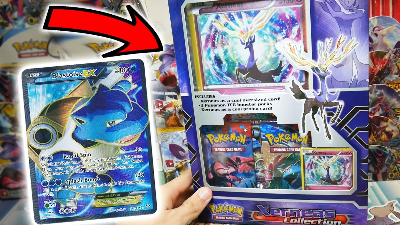 - BLASTOISE EX FULL ART HUNT!! OPENING A 3 PACK XERNEAS COLLECTION