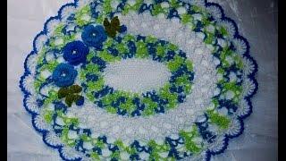 Centrinho oval com flores