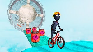 Bike Racing Games - Stickman BMX Stunts - Gameplay Android free games