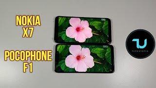 Pocophone F1 vs Nokia X7 Comparison/Size/Design/Display/Screen/Sound Speakers