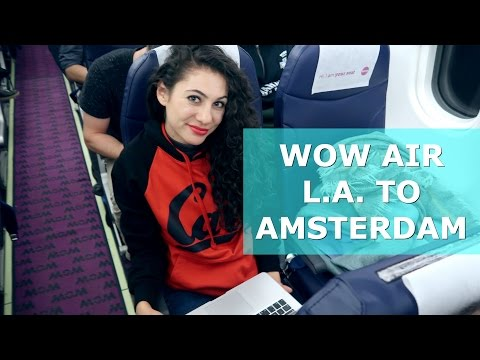 FLIGHT REPORT WOW AIR L.A. TO AMSTERDAM DAY 572 | TRAVEL VLOG IV